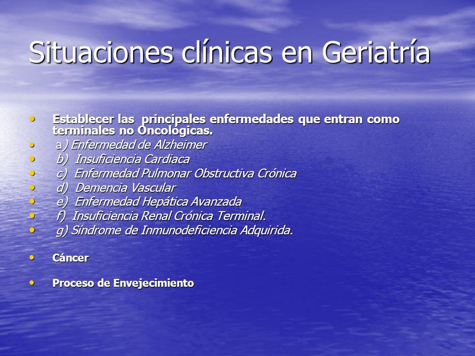Situaciones clínicas en Geriatría