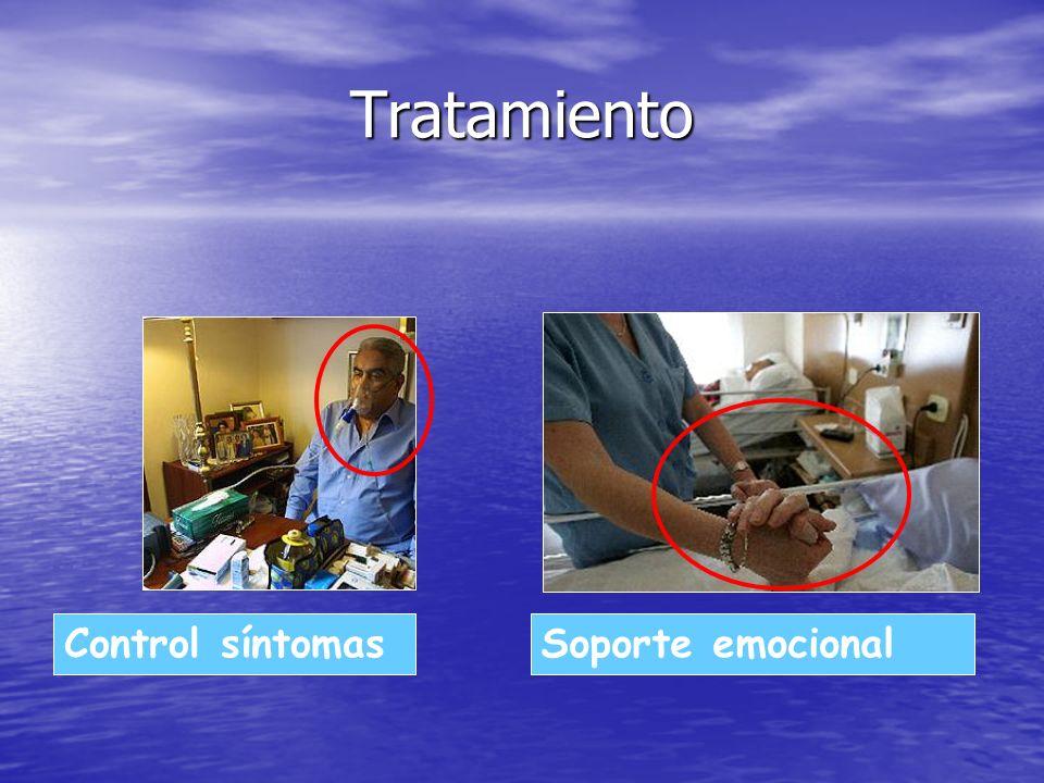 Tratamiento Control síntomas Soporte emocional