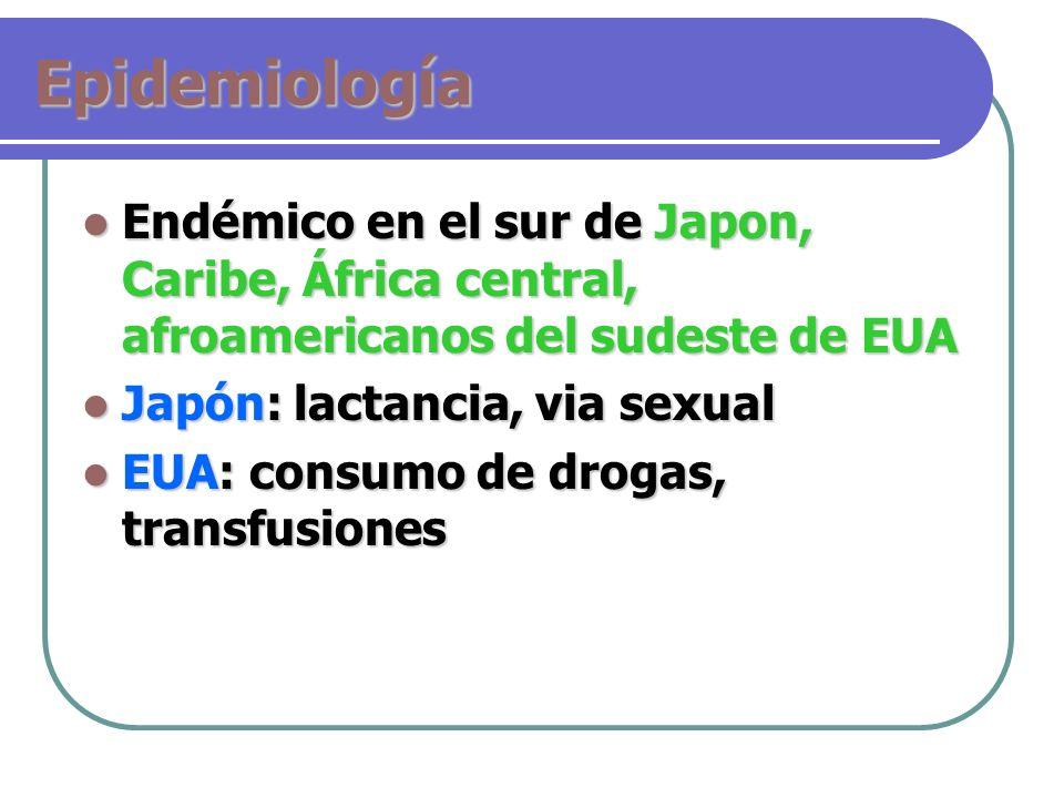 EpidemiologíaEndémico en el sur de Japon, Caribe, África central, afroamericanos del sudeste de EUA.