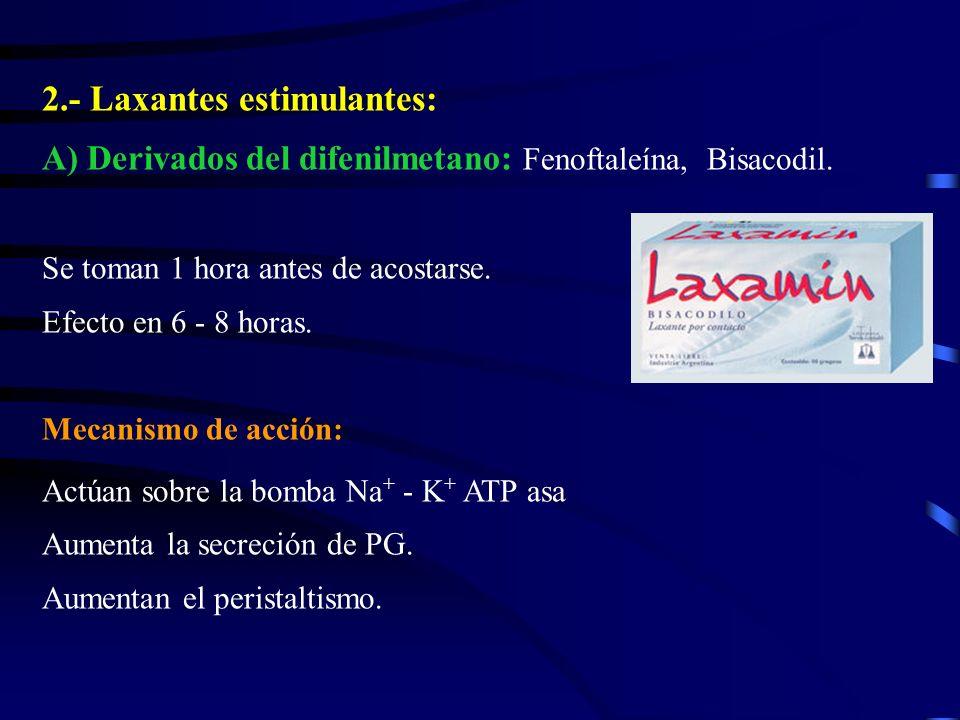 2.- Laxantes estimulantes: