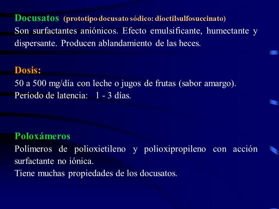 Docusatos (prototipo docusato sódico: dioctilsulfosuccinato)