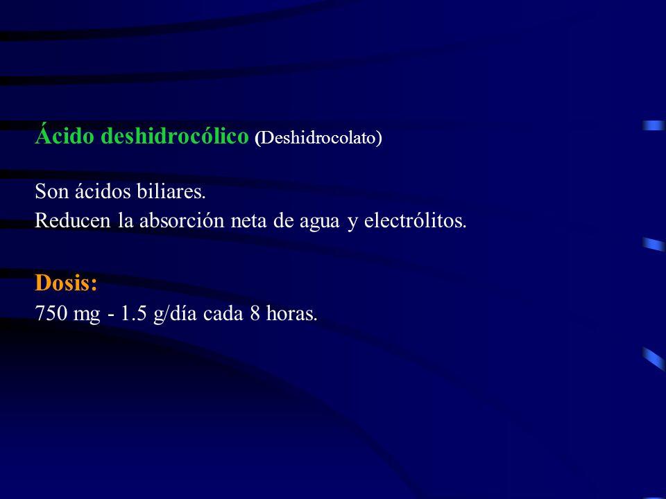 Ácido deshidrocólico (Deshidrocolato)
