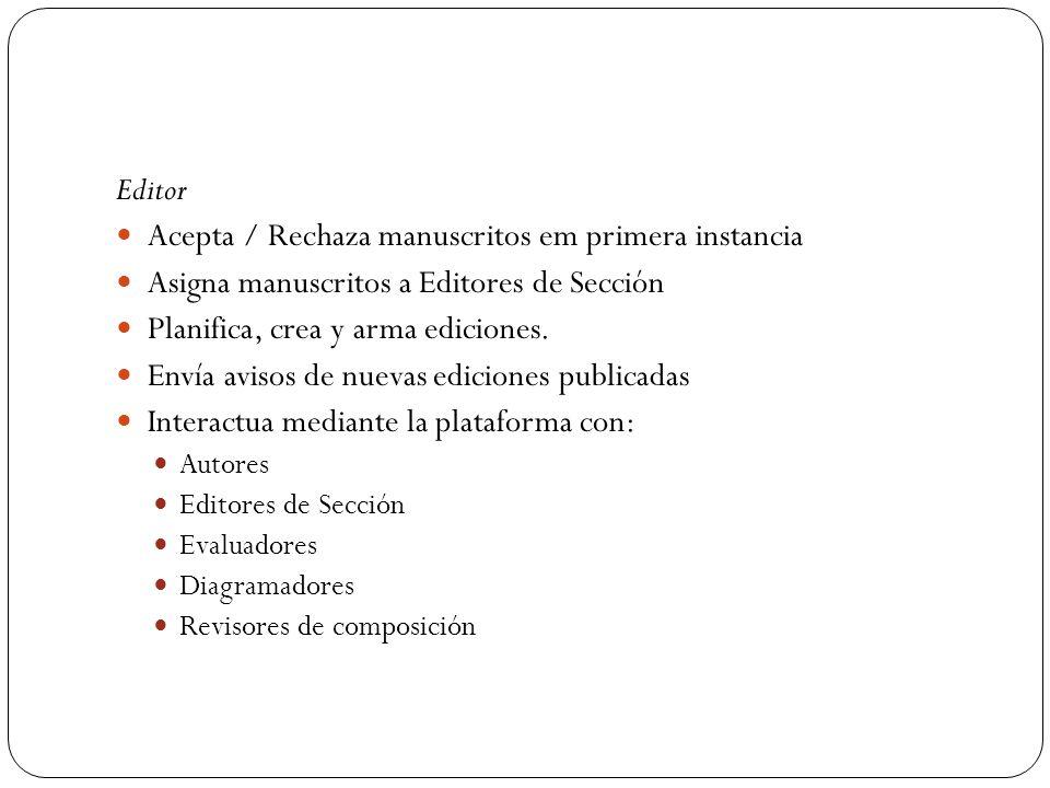 Acepta / Rechaza manuscritos em primera instancia