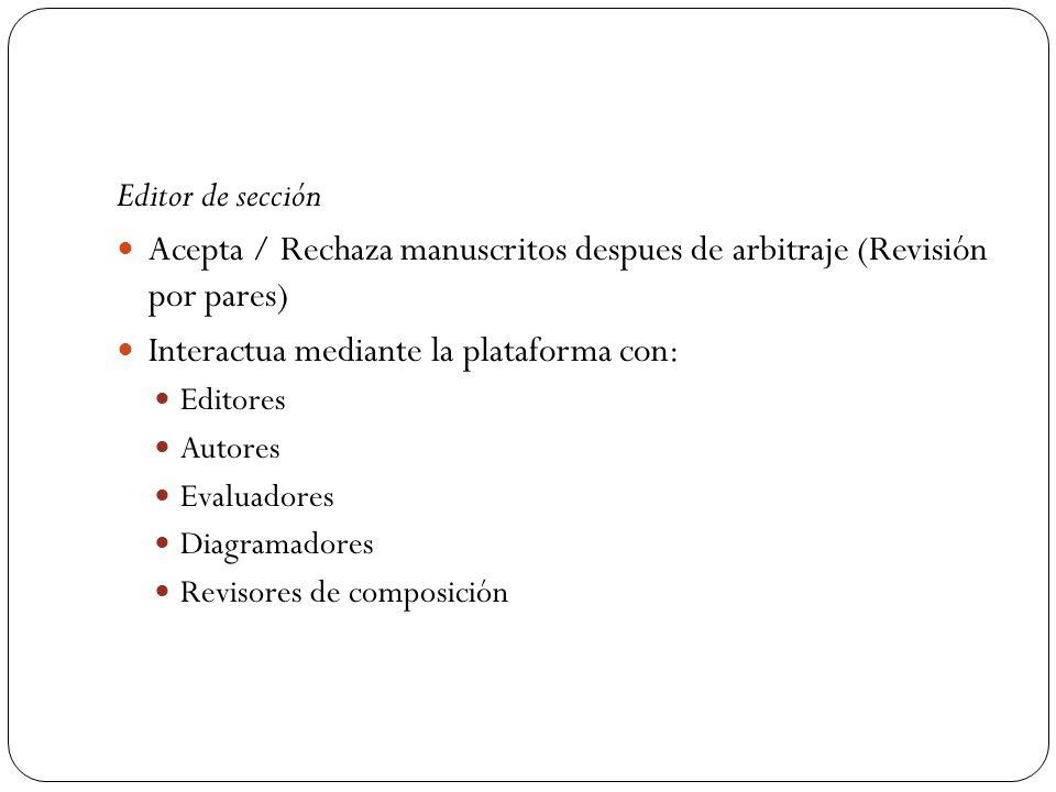 Acepta / Rechaza manuscritos despues de arbitraje (Revisión por pares)