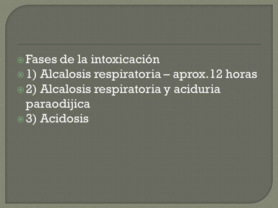 Fases de la intoxicación