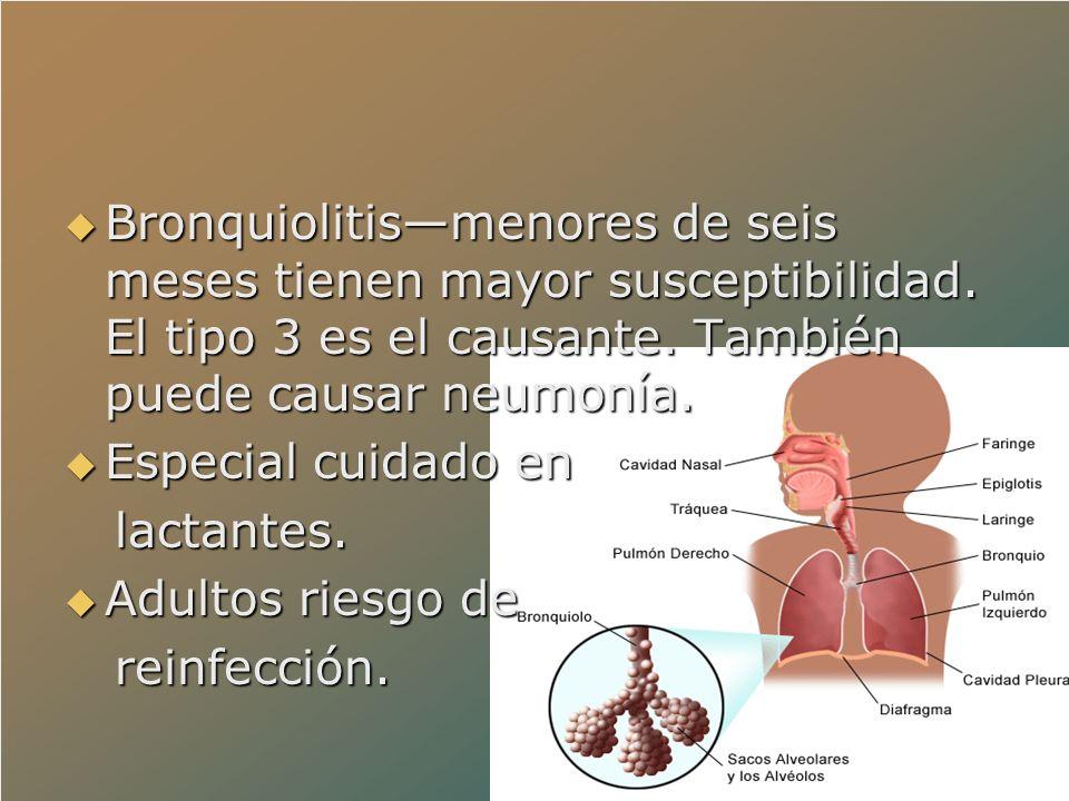 Bronquiolitis—menores de seis meses tienen mayor susceptibilidad