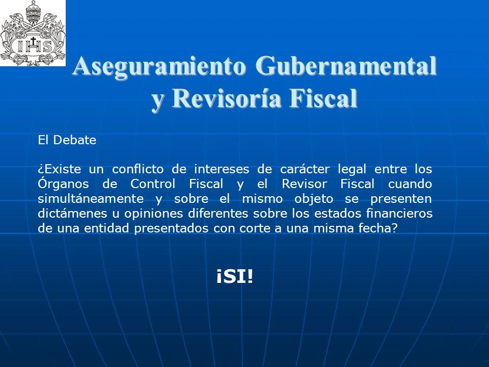 Aseguramiento Gubernamental y Revisoría Fiscal