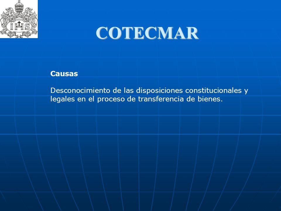 COTECMAR Causas.