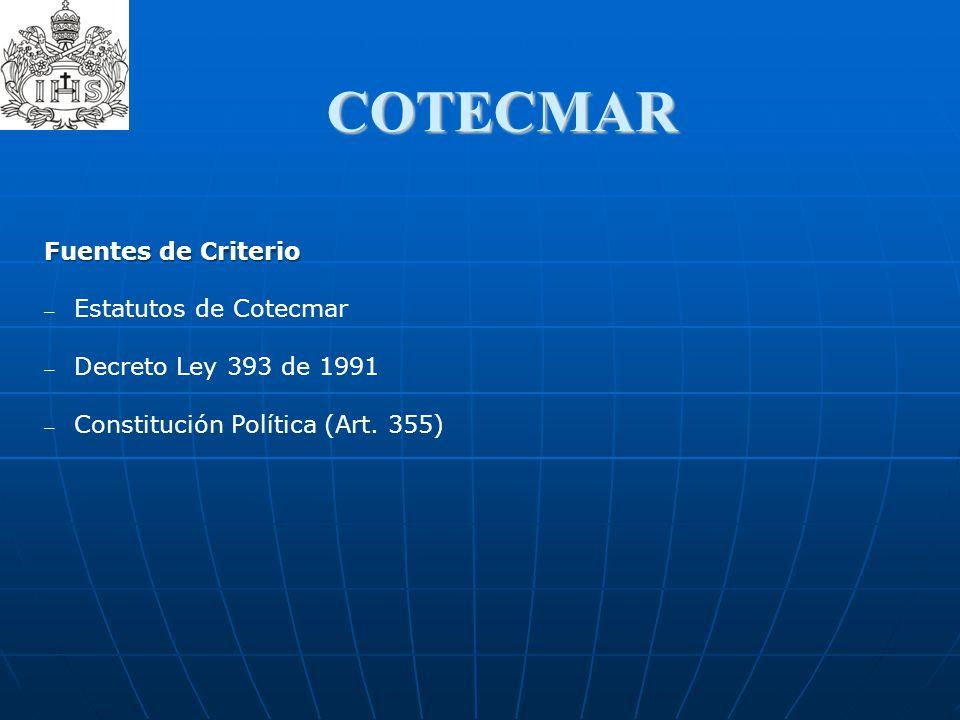 COTECMAR Fuentes de Criterio Estatutos de Cotecmar