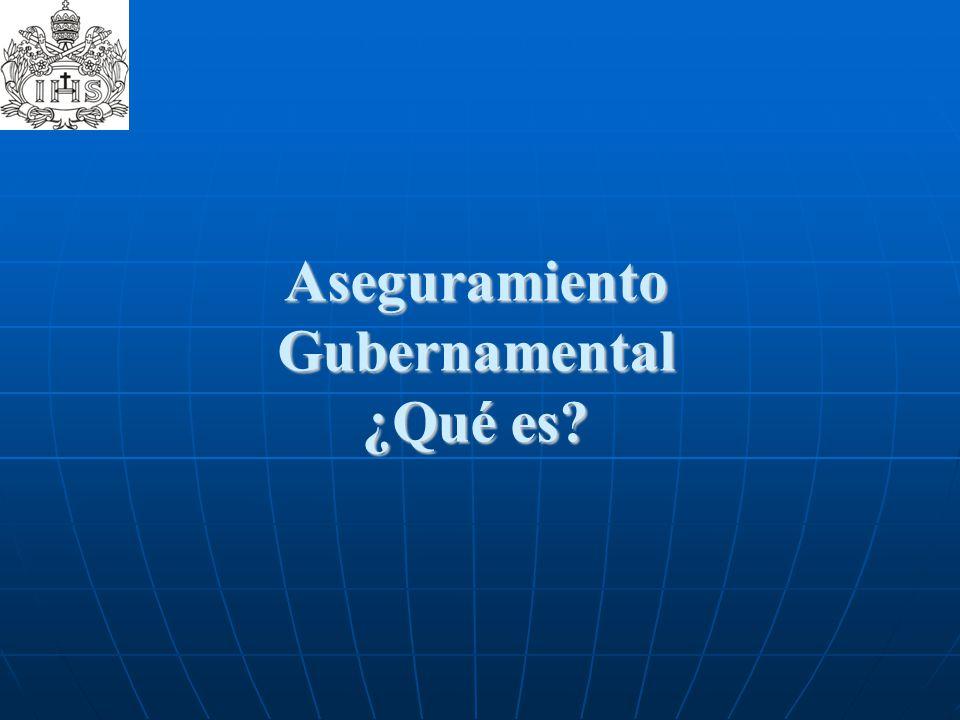 Aseguramiento Gubernamental ¿Qué es