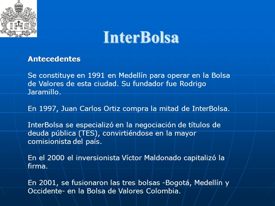 InterBolsa  Antecedentes