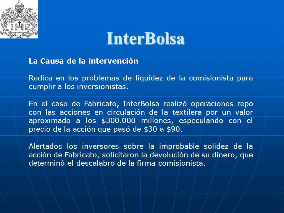 InterBolsa  La Causa de la intervención