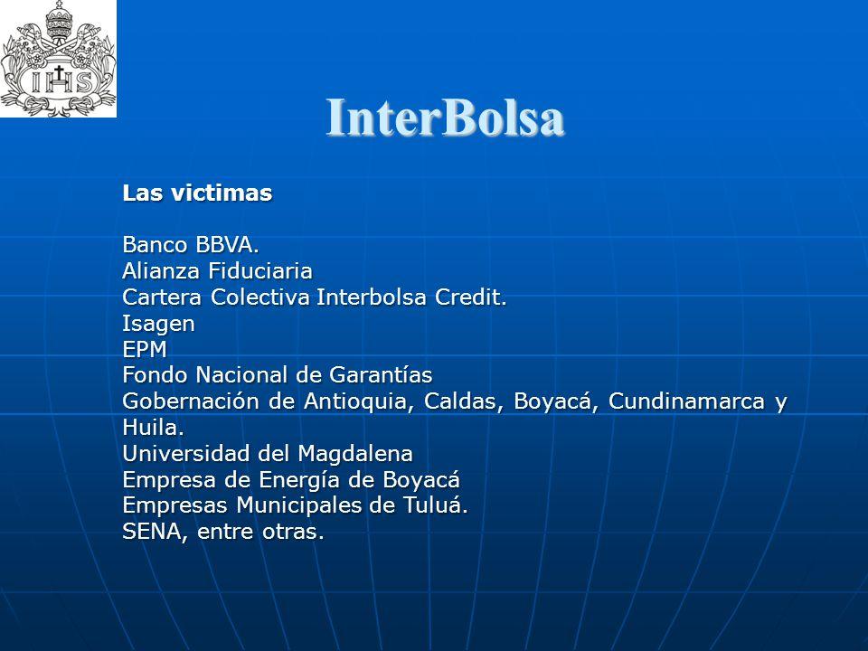 InterBolsa  Las victimas Banco BBVA. Alianza Fiduciaria