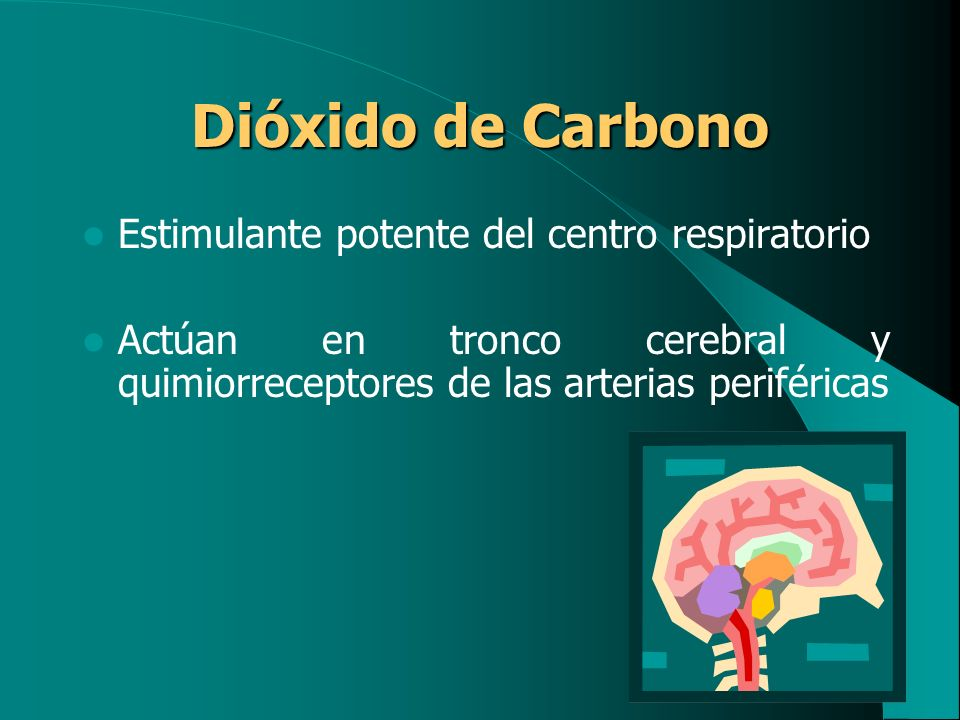 Dióxido de Carbono Estimulante potente del centro respiratorio