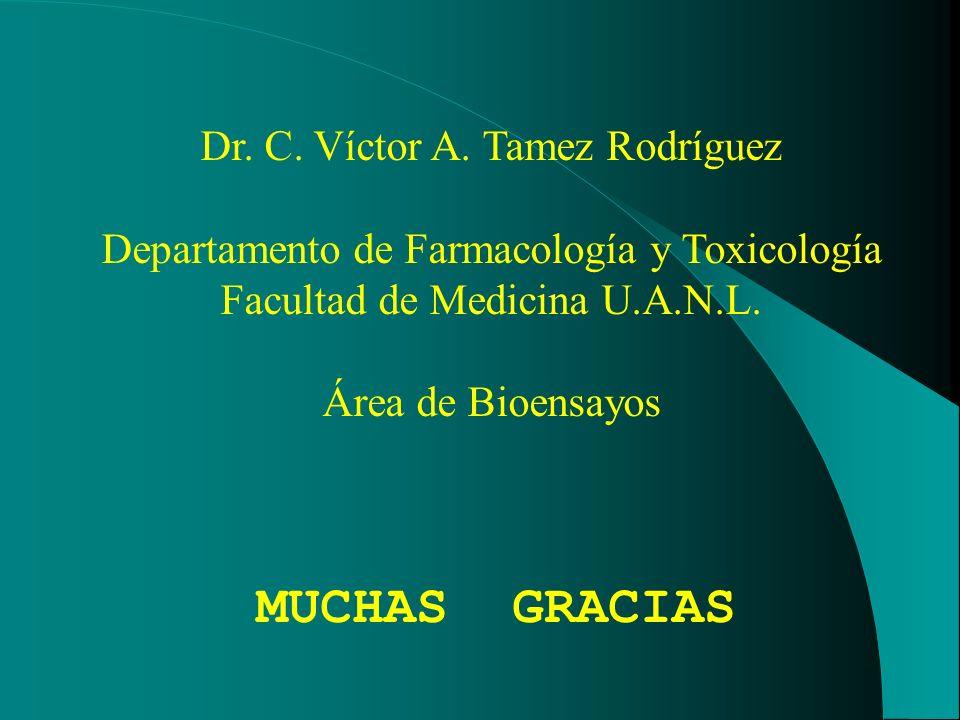 MUCHAS GRACIAS Dr. C. Víctor A. Tamez Rodríguez
