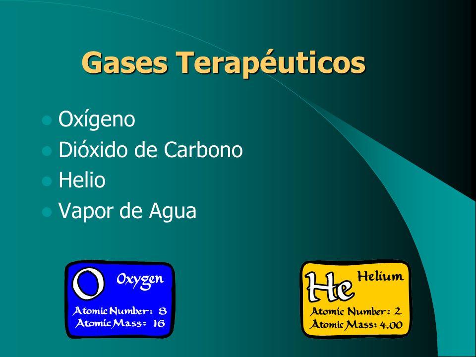 Gases Terapéuticos Oxígeno Dióxido de Carbono Helio Vapor de Agua