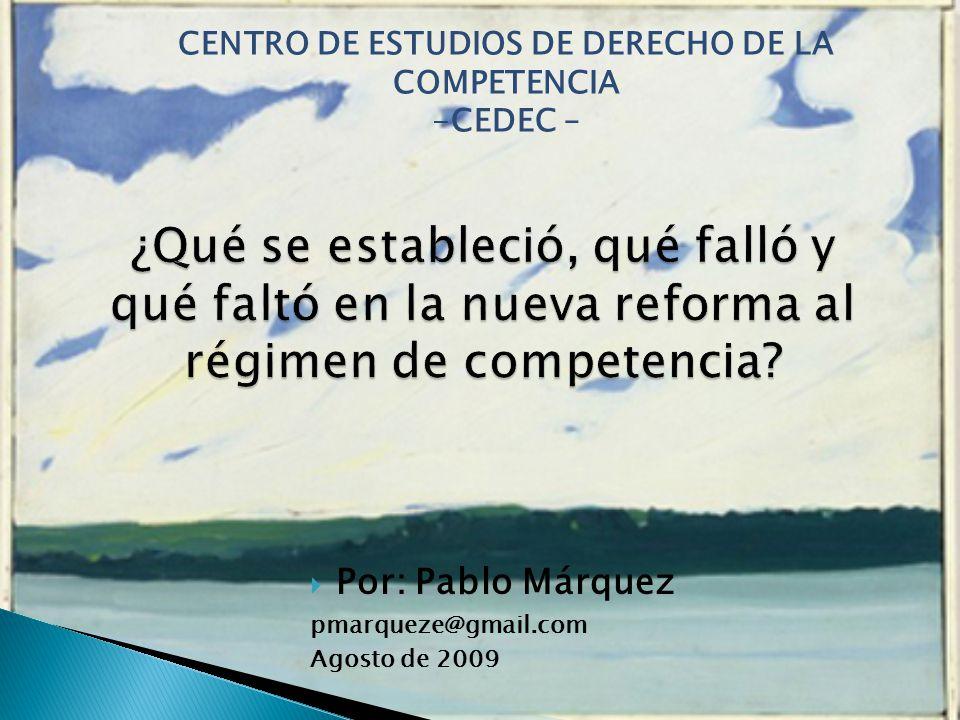 Por: Pablo Márquez pmarqueze@gmail.com Agosto de 2009