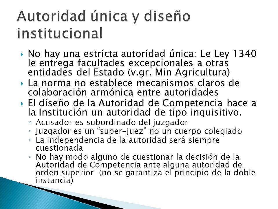 Autoridad única y diseño institucional