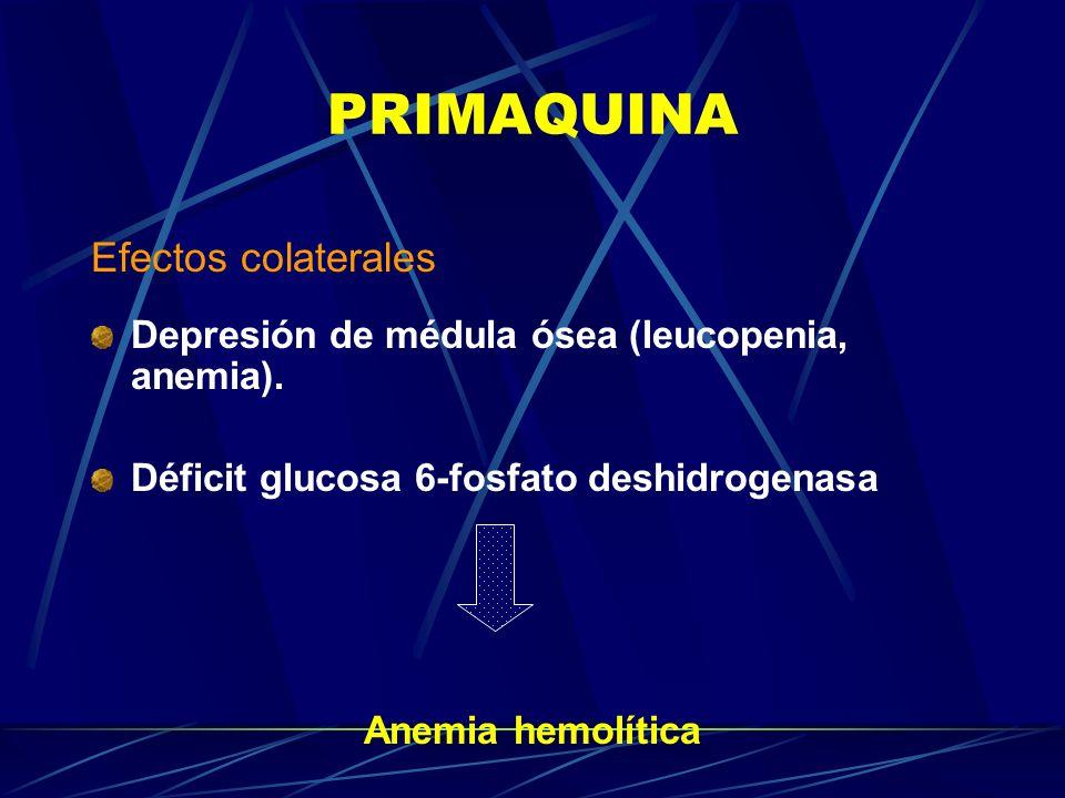 PRIMAQUINA Efectos colaterales