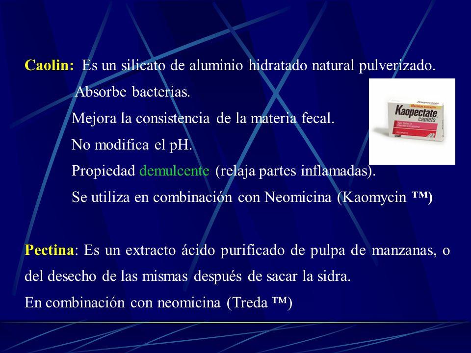 Caolin: Es un silicato de aluminio hidratado natural pulverizado.