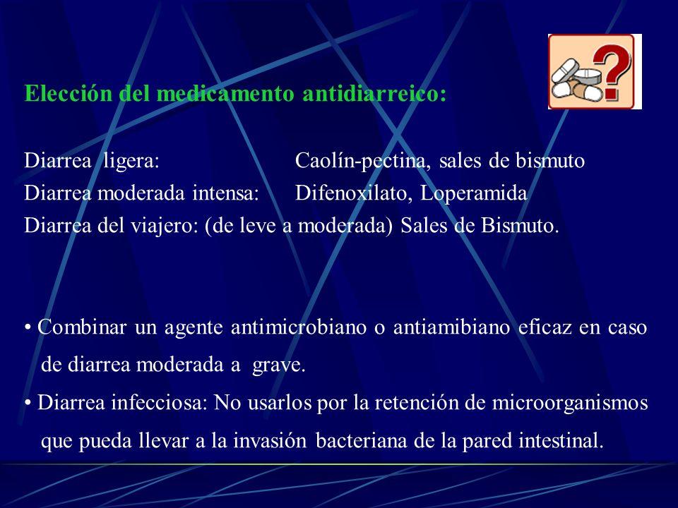 Elección del medicamento antidiarreico: