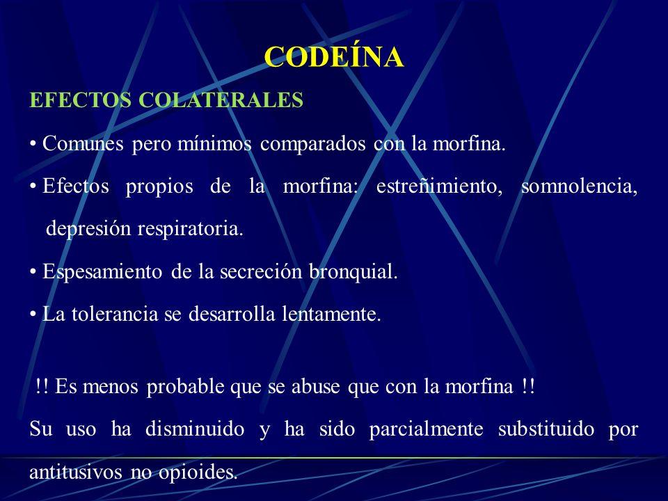 CODEÍNA EFECTOS COLATERALES