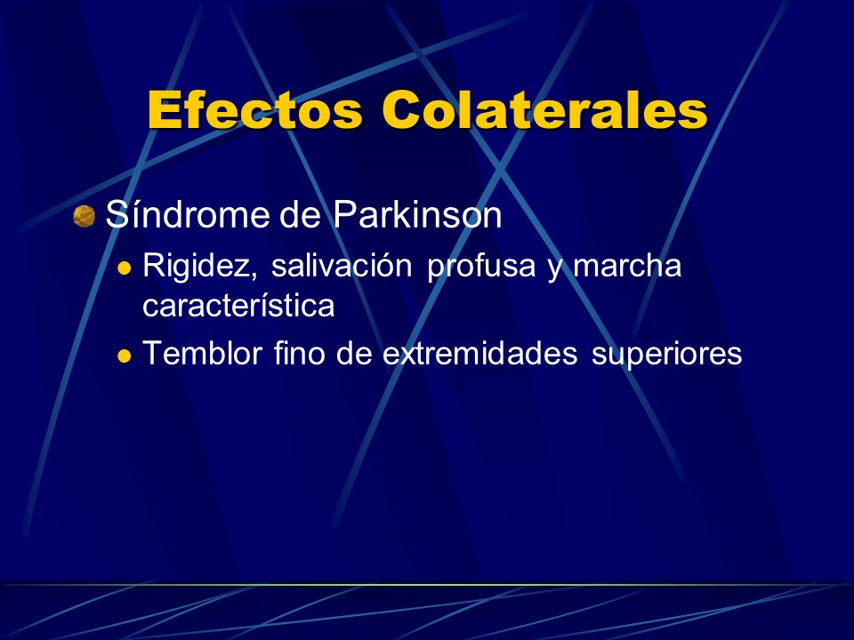 Efectos Colaterales Síndrome de Parkinson
