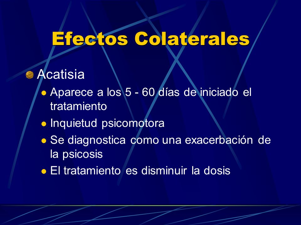Efectos Colaterales Acatisia