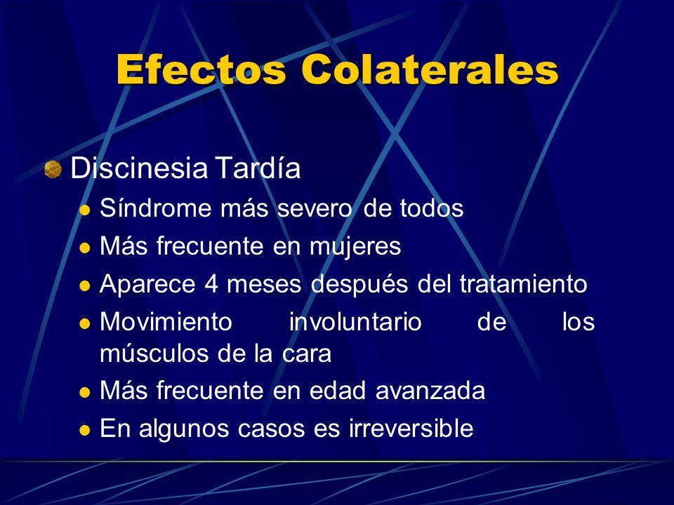 Efectos Colaterales Discinesia Tardía Síndrome más severo de todos