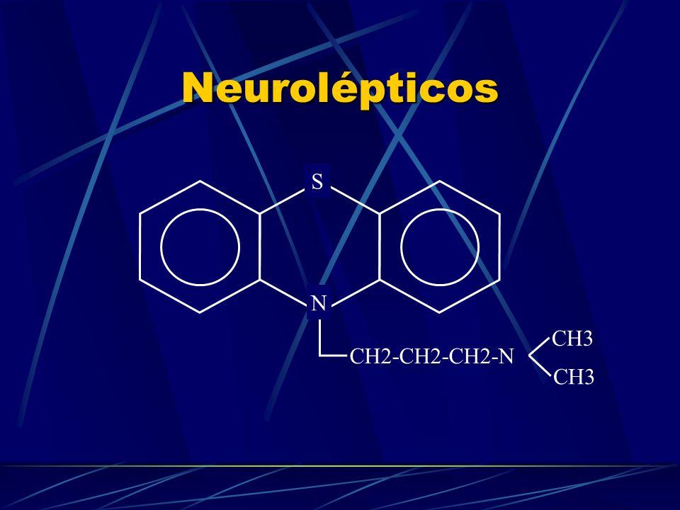 Neurolépticos S N CH3 CH2-CH2-CH2-N CH3