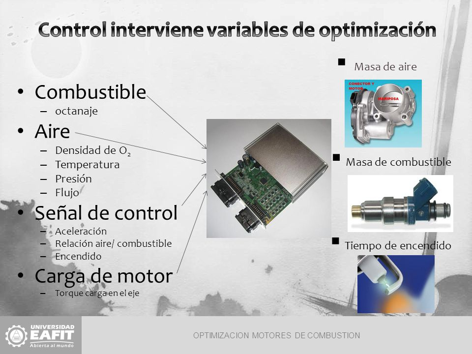 Control interviene variables de optimización