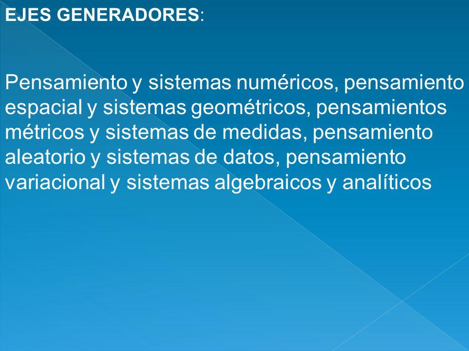 EJES GENERADORES:
