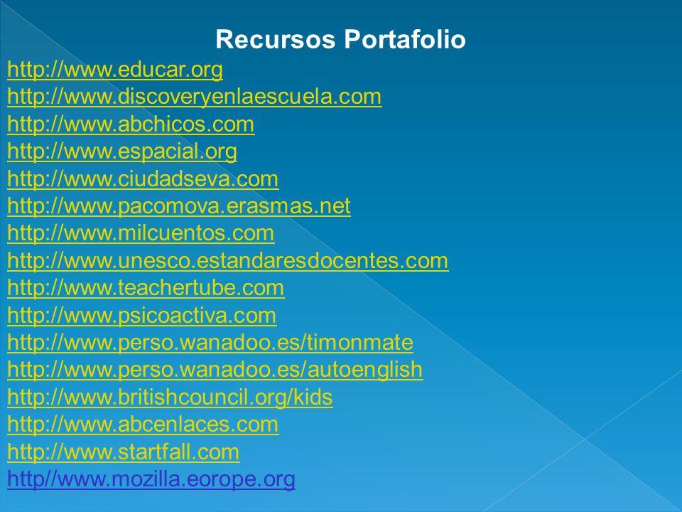 Recursos Portafolio http://www.educar.org