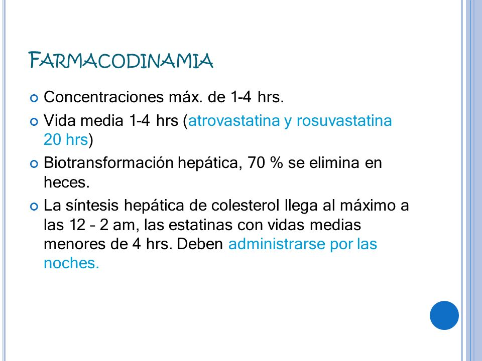 Farmacodinamia Concentraciones máx. de 1-4 hrs.