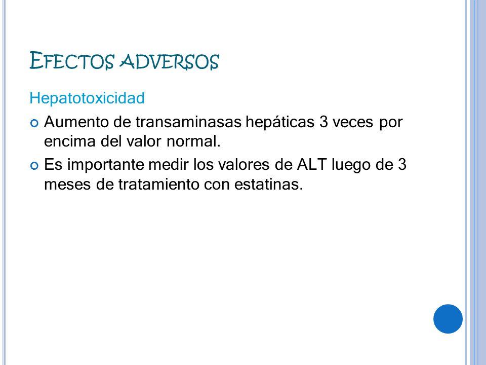 Efectos adversos Hepatotoxicidad