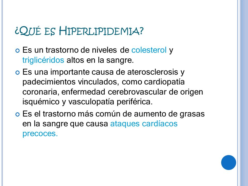 ¿Qué es Hiperlipidemia