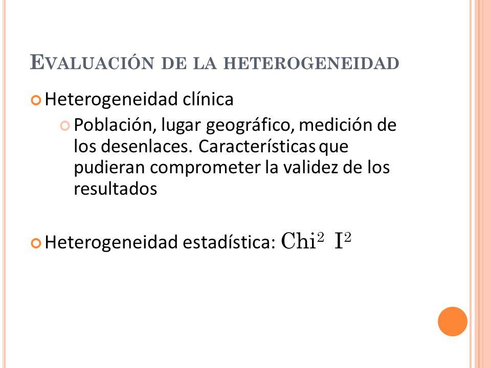 Evaluación de la heterogeneidad
