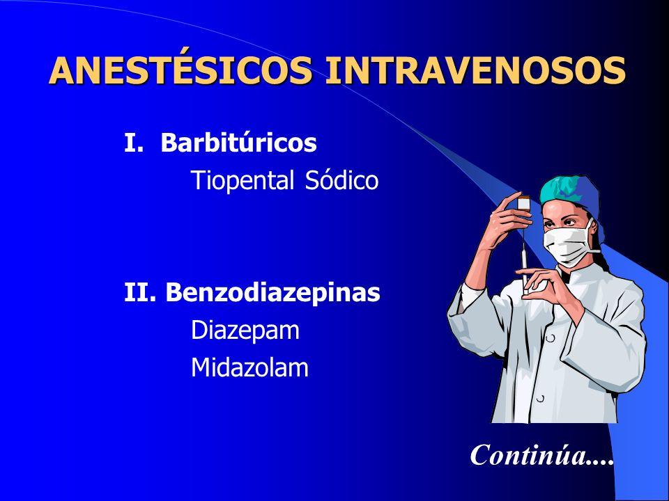 ANESTÉSICOS INTRAVENOSOS