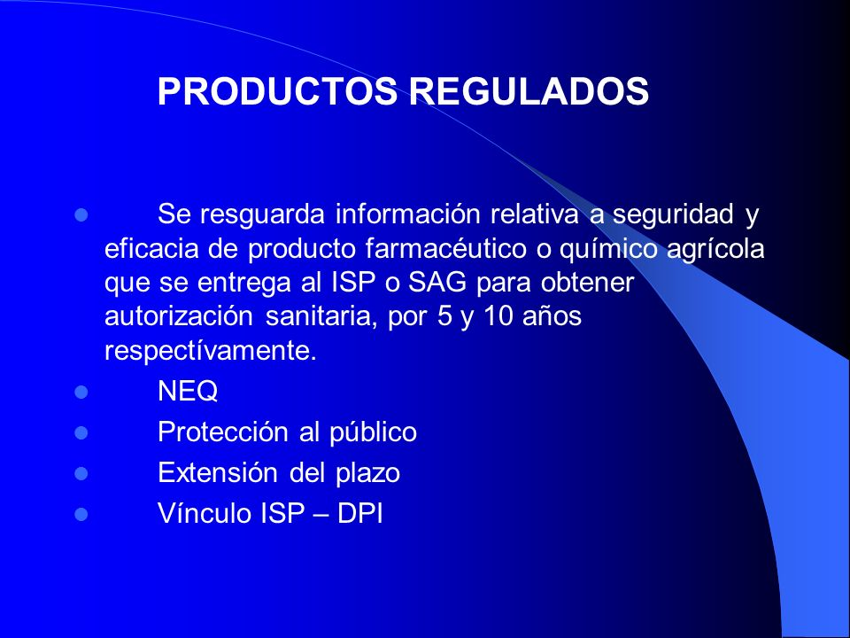 PRODUCTOS REGULADOS