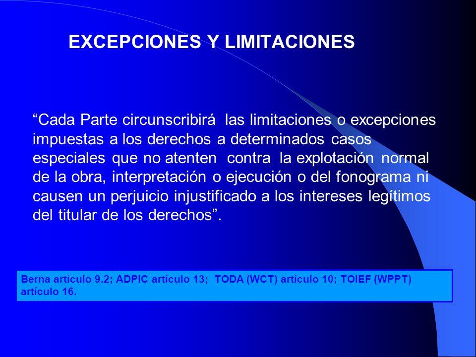 EXCEPCIONES Y LIMITACIONES