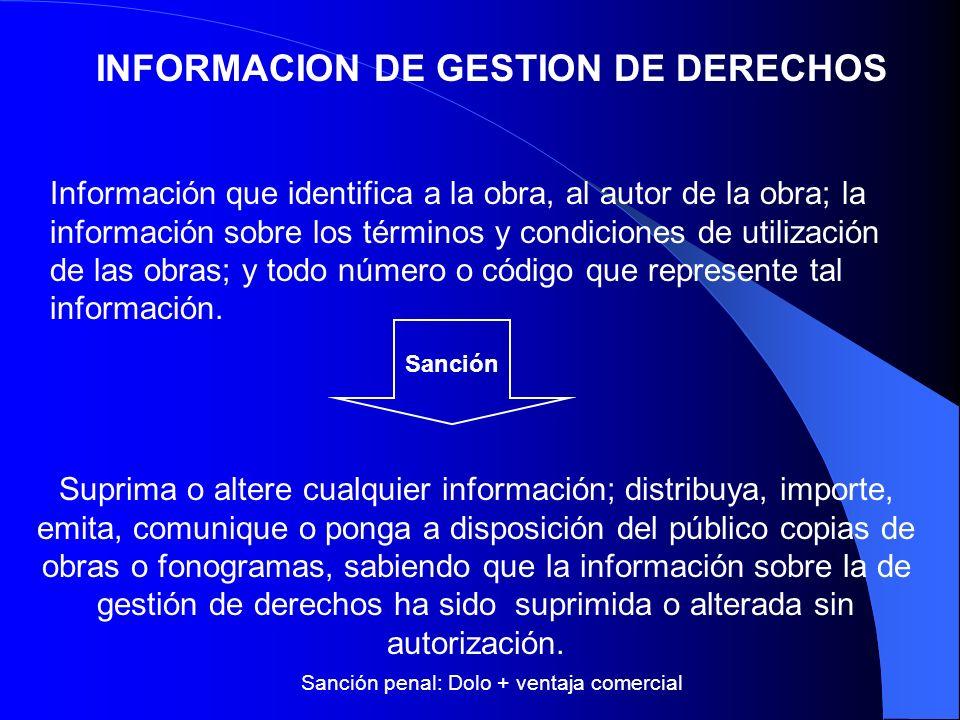 INFORMACION DE GESTION DE DERECHOS