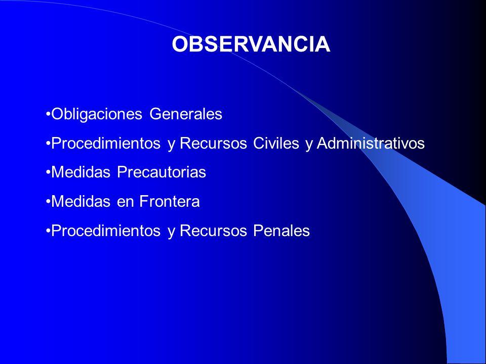 OBSERVANCIA Obligaciones Generales