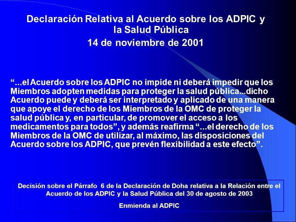 Declaración Relativa al Acuerdo sobre los ADPIC y la Salud Pública
