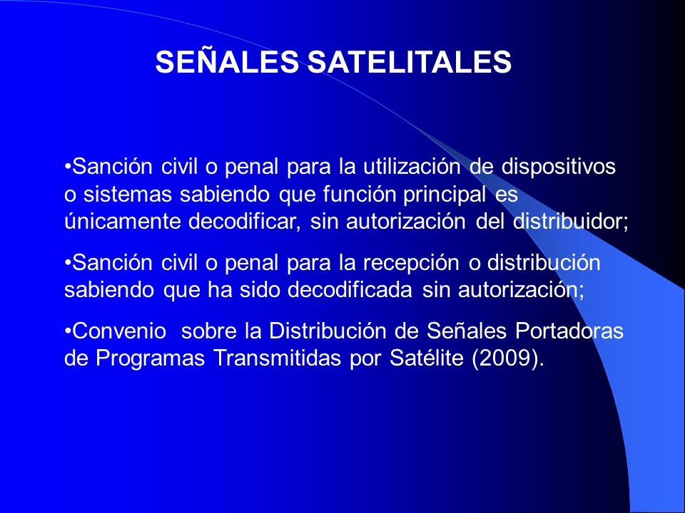 SEÑALES SATELITALES