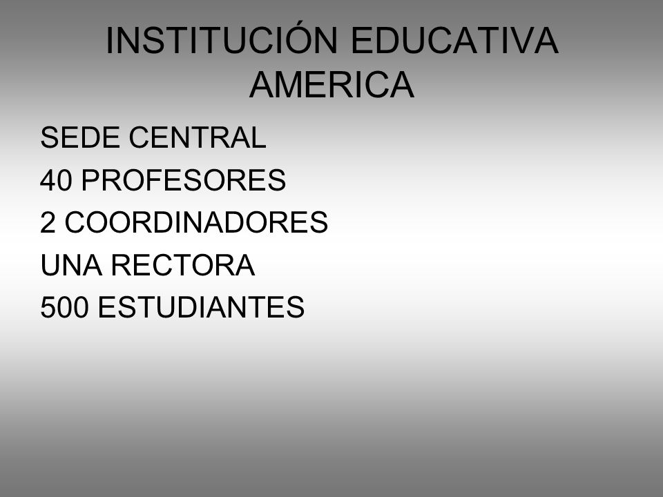 INSTITUCIÓN EDUCATIVA AMERICA