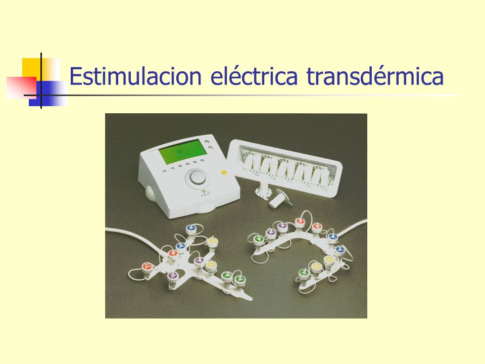 Estimulacion eléctrica transdérmica