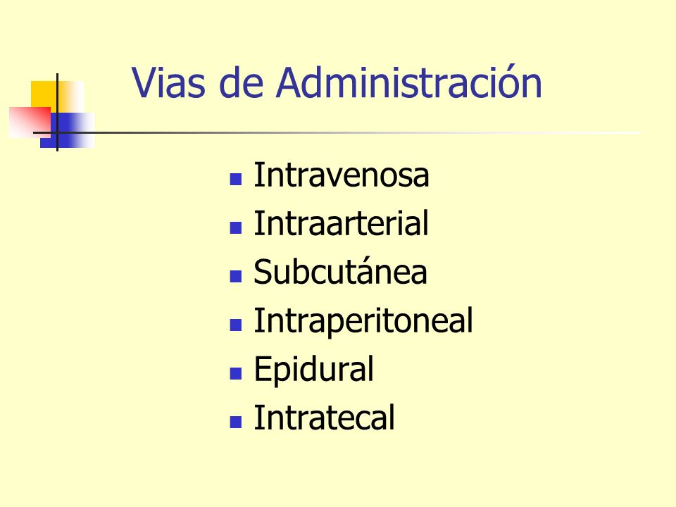 Vias de Administración