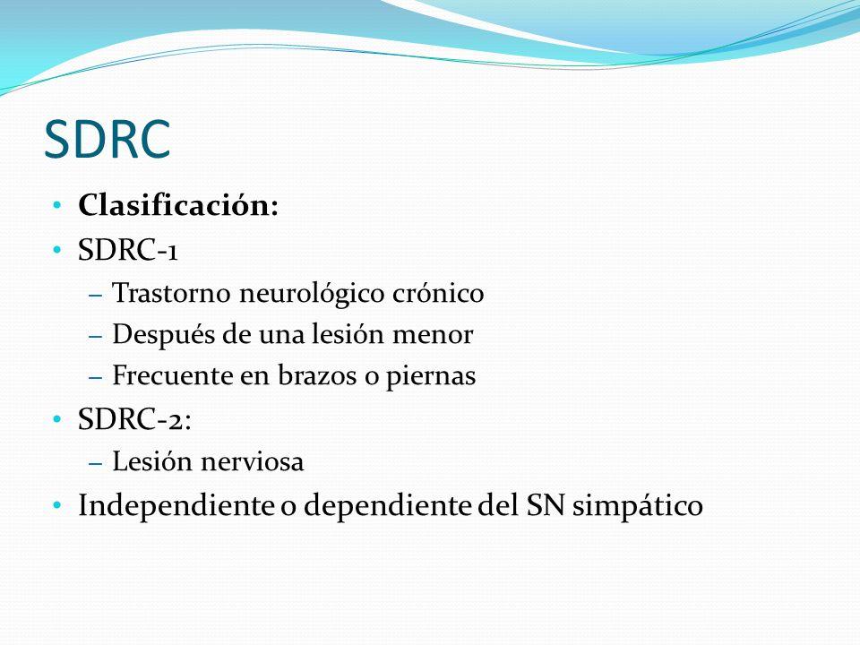 SDRC Clasificación: SDRC-1 SDRC-2: