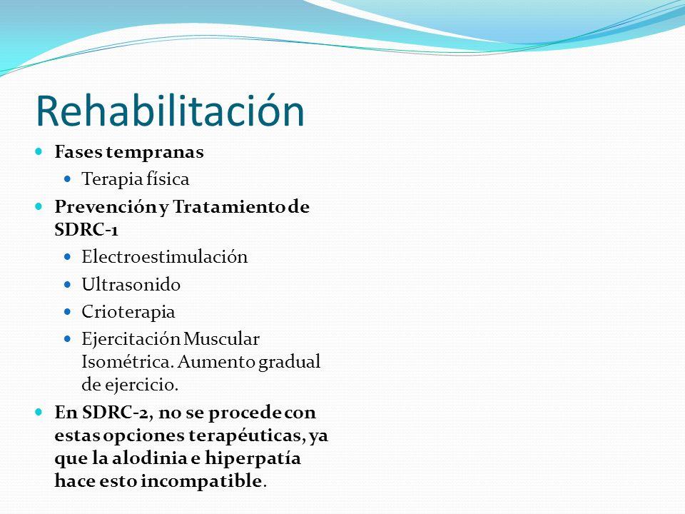Rehabilitación Fases tempranas Terapia física