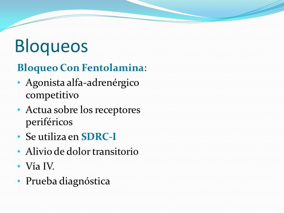 Bloqueos Bloqueo Con Fentolamina: